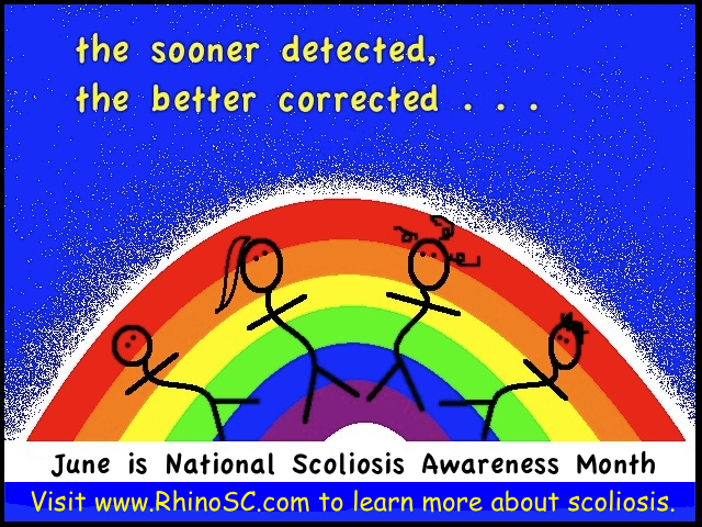Visit www.RhinoSC.com to learn more about scoliosis.